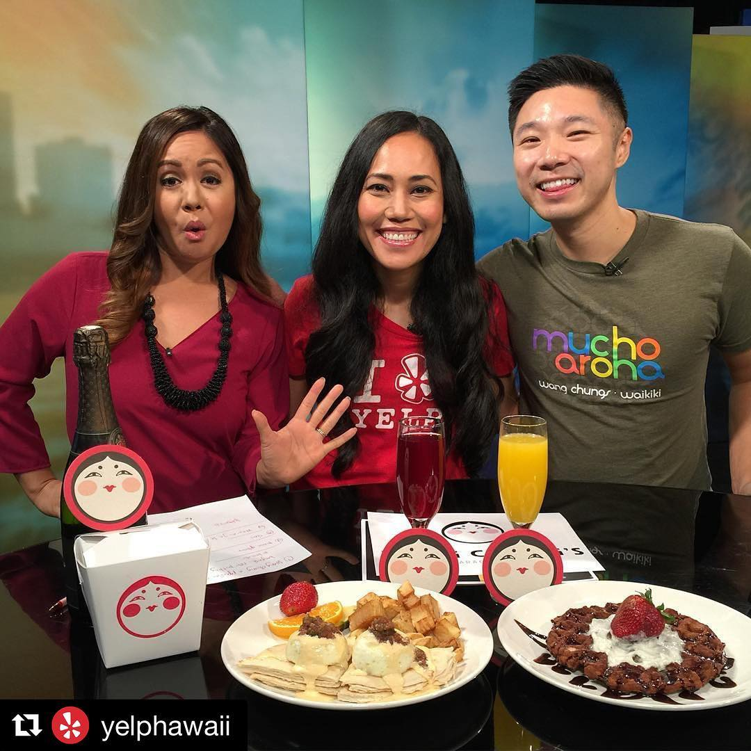 K I T V | Looking for Sunday Funday plans? Check out @wangchungs Bottomless Sunday Brunch every Sunday from 10am-1pm! Featuring mimosas and breakfast treats by Chef Randy at the #1 karaoke & nightlife building on @yelphawaii Featured here on our Sunday morning @kitv4 segment is @wangchungs owner Danny Chang, Yelp Community Manager @emihart & @kitv4 anchor @alohamoani #yelphawaii #Repost @yelphawaii