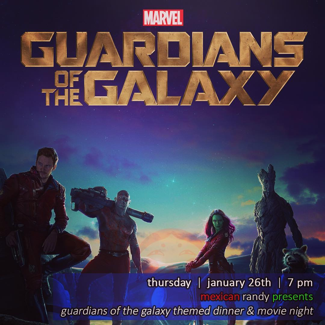 Chef @mexicanrandyhi is doing a Guardians of the Galaxy themed dinner & movie night this Thursday! Groot sandwiches! #wangchungs