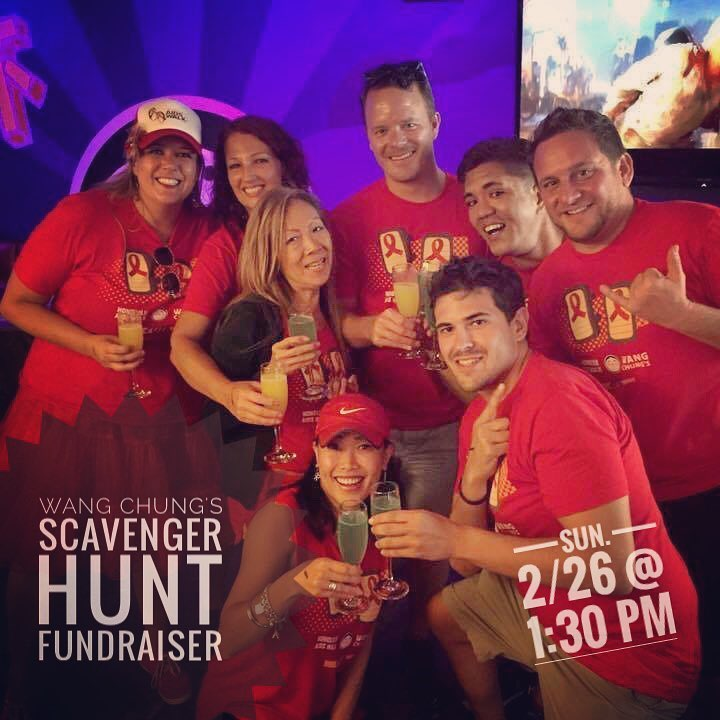 We're doing a #ScavengerHunt Fundraiser this Sunday, 2/26 @ 1:30 pm! Prizes for the top two winning teams. $25 entry fee. All fees are donated to the #HonoluluAIDSwalk! More info at http://tinyurl.com/waikikiscavengerhunt #wangchungs