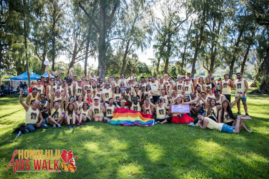 Group pic of Team Wang Chung's @ the Honolulu AIDS Walk 2019